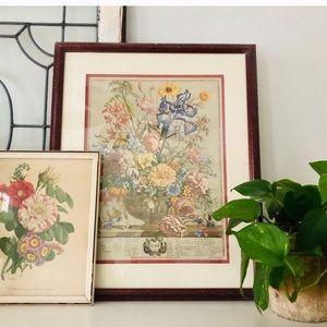 Vintage June Floral Framed Picture